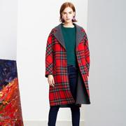 过年吸睛时髦的穿搭有哪些? Venvee樊羽女装红色气质大衣推荐
