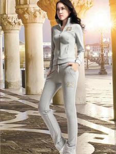 卡柔贝伊灰色时尚运动装