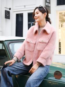 美兰娇丽粉色短款外套