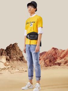 EGOU黄色T恤