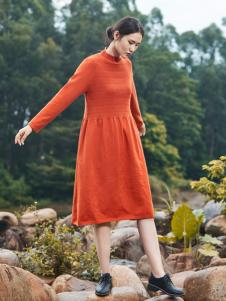 cols tate谷度女装红色针织裙