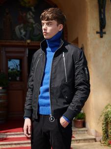 IPG男装黑色运动休闲外套