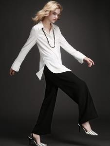EAACPP女装白色休闲衬衫