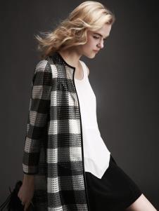 EAACPP女装黑白格子外套