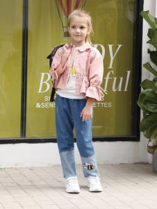 2019芭樂兔童裝女童粉色外套