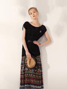 万泽丰女装黑色时尚套装裙