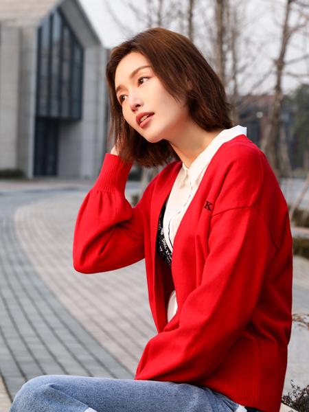 XYING香影新款红色外套