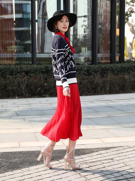 XYING香影新款红色半裙