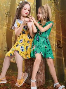 水孩儿女童时尚连衣裙