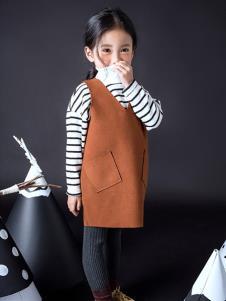 TIKKOROOM童装焦糖色时尚连衣裙