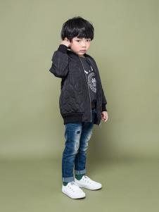 TIKKOROOM童装黑色休闲外套