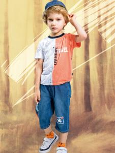水孩儿男童时尚T恤