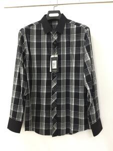 捞衣库男式格子衬衫