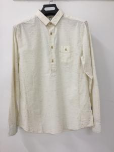 捞衣库男式白色衬衫