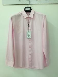 捞衣库男式粉色时尚衬衫