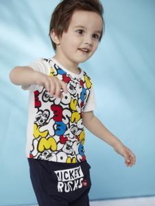 迪士尼宝宝童装男童印花T恤