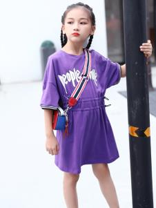 快乐丘比紫色连衣裙