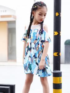 快乐丘比女童连衣裙