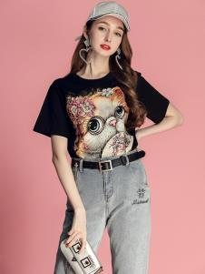 2019贝珞茵女装个性印花T恤