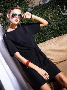 飞范女装优雅小黑裙
