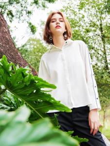 2019樊羽女装简约白色衬衫
