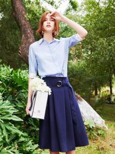 2019樊羽女装文艺衬衫套装裙
