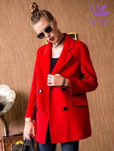 飞范女装红色外套