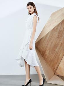 2019ECA女装白色连衣裙