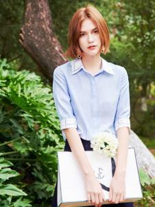 2019樊羽女装浅蓝色衬衫