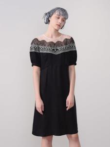 CHEN ZHAN.尘辗黑色连衣裙