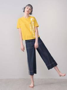 CHEN ZHAN.尘辗黄色T恤