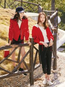2019布根香女装红色小外套