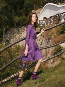 2019布根香紫色连衣裙