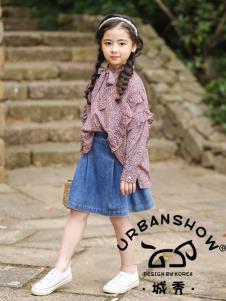 2019城秀童装女大童衬衫