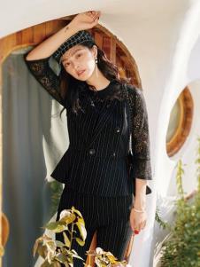 2019布根香春新款黑色蕾丝裙