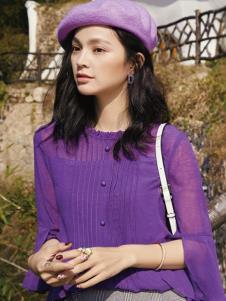 2019布根香女装春紫色上衣