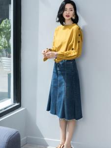 2019优衣美女装新款牛仔裙