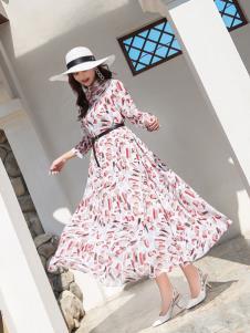 EI女装19优雅印花裙