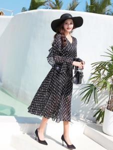EI女装19新款优雅连衣裙