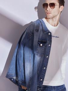 2019恩咖男装蓝色牛仔外套