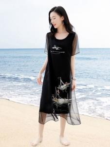 彩知丽CZHLE黑色连衣裙