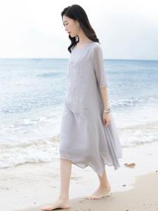 彩知丽CZHLE灰色连衣裙