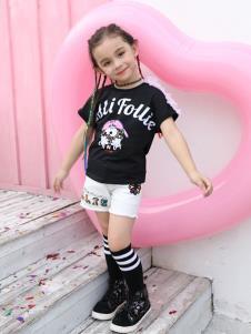 芙丽芙丽follifollie女童T恤