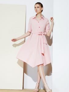 彩知丽CZHLE粉色连衣裙