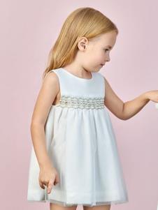Sunroo阳光鼠白色连衣裙