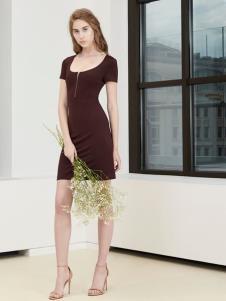 imi艾米女装19修身连衣裙