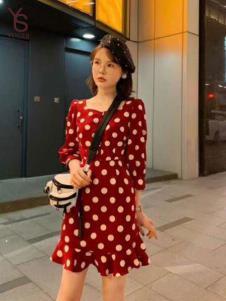 雨珊女装波点连衣裙