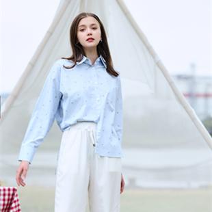 MOKOO条纹不规则女式衬衣一手货源