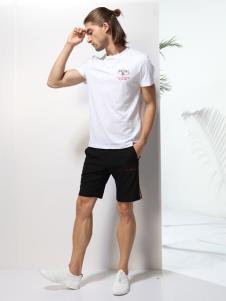 2019劳夫罗伦男装百搭白色T恤