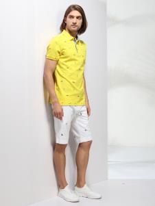 2019劳夫罗伦新款黄色polo衫